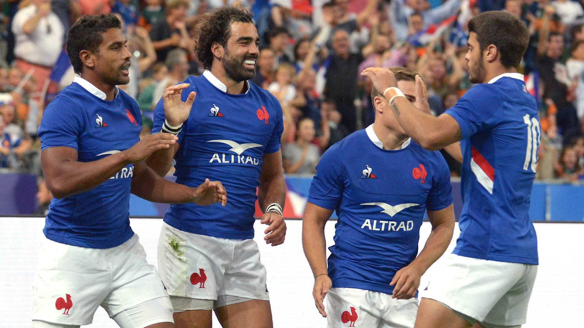Francia celebra su victoria sobre Italia
