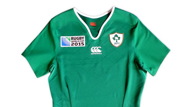 camiseta de la Copa Mundial de Rugby de Irlanda 2015